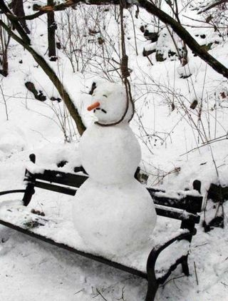 Snowman Hanging Himself